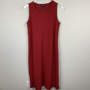 EILEEN FISHER Sleeveless Midi Dress Viscose M4